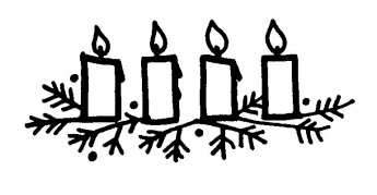 Advent Clip Art Black And White 05