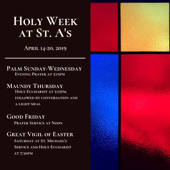 Holy Week at St. A's 1